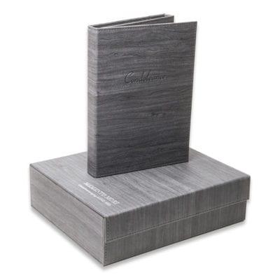 Herinneringsbox wood met zilveren opdruk